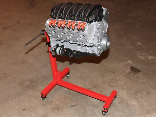 chevy-camarao-ls3-v8-engine-3dprint